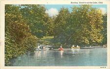 Geneva-On-The-Lake Ohio~Boating~1936 Linen Postcard