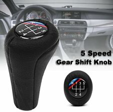 5 Speed Stick Gear Shift Knob Leather For BMW E90 E91 E92 E60 E46 E39 E36 M3 M5