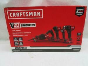Craftsman CMCK420D2 V20 Brushless 4-Power Tool Combo Kit