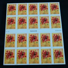 Love Bouquet Stamp Sheet Of 20 37C Stamps Booklet