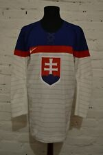 SLOVAKIA ICE HOCKEY TEAM 2014 WHITE JERSEY SHIRT TRIKOT NIKE MENS L