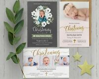 Personalised Photo Boy / Girl Christening / Baptism / Naming day invitation
