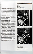 Instructions for Rolleiflex TLR Film Transport Mechanism-German.English,French..