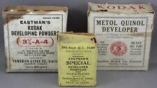 3 BOXES OF VINTAGE EASTMAN KODAK DEVELOPING POWDERS-CANADIAN KODAK CO