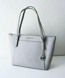 Michael Kors Ciara LG Tz Tote Bag Saffiano Leather Grey Pearl Grey 35F8SC6T9L
