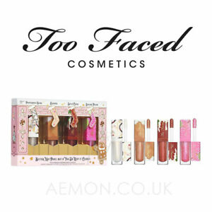 Too Faced Better Not Pout, But If You Do Keep It Glossy Lip Gloss Set  GENUINE