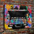 """28x20"""" Alec Monopoly """"Banknotes"""" HD print on canvas rolled up contemporary art"""