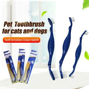 Cat Dog Tooth Brush Dental Care for Pet Double-Heads Mouth Cleaning Toothbrushes