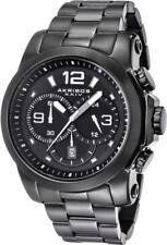 Akribos XXIV Men's AK631BK Grandiose Chronograph Black Stainless Steel Bracelet