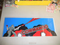 "COMMANDO  24- 9"" arcade game sign marquee"