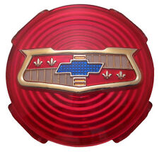 1958 58 Chevy Impala Spinner Emblem Wheel Cover Hub Cap Original Red