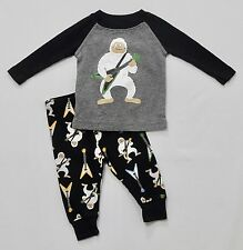 Crazy 8 Guitar Playing Abominable Snowman Gymmie Jammie Pajama Set, 3-6 mos.
