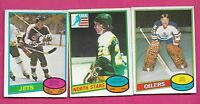 1980-81 OPC OILERS MIO RC + TEAM USA CHRISTOFF RC + MANN RC   CARD (INV# A9043)