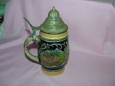 Vintage Beer lidded Stien Germany Maker Mark