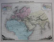 ORIGINALE Antico Mappa Mondo Antico, Palmira, PERSEPOLIS, MIGEON, 1891
