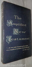 THE AMPLIFIED NEW TESTAMENT Marshall Morgan e Scott 1968 Bibbia Biblica Inglese