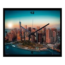 "Mega Bild mit Wanduhr  "" New York - Manhattan "" in 40x50cm"