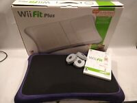 Nintendo Wii Fit Plus Balance Board Bundle w/ Wii Fit Game, 4 Risers, Cover, Box