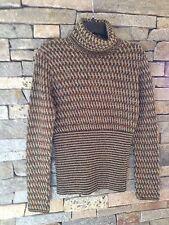 Missoni Turtleneck Sweater - Green Basketweave - High Rib Waist 42/6-8 or M