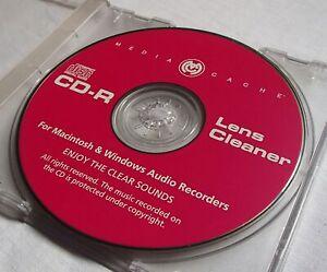 Media Cache Musical CD ROM Lens Cleaner Disc Windows & Mac Original Jewel Case