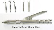 Kronenabnehmer Crown Click, incl. 3  Wechselaufsätzen, Germany Stainless, Neu,