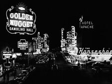Las Vegas Nevada, 1953 Golden Nugget Casino Vintage Photo Art Print Poster 51x38