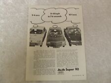 B AUDI SUPER 90 1967 POSTER ADVERT READY FRAME A4