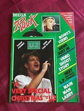 Mega Rock U2 Joshua Tree 1983 Magazine from UK Rare Bono Giant Poster