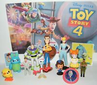 Disney Toy Story 4 Movie Figure Set of 10 With New Character Forky and Bonus
