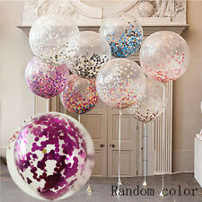 2X Latex Sequins Confetti Balloons Clear Rainbow Wedding Party Decoration