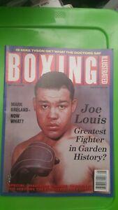 Boxing Illustrated Magazine: May 1989. Joe Louis, Mike Tyson.
