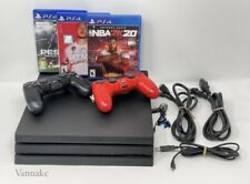 Sony PlayStation 4 PS4 PRO 1TB Jet Black Console Bundle 2 Controllers & Games