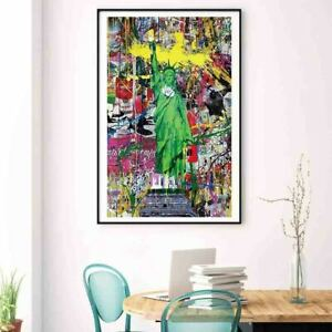 Statue of Liberty By Banksy Canvas Wall Art Picture Print Graffiti Home Decor