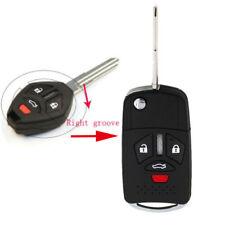 Uncut Remote Flip Key Shell Fit for Mitsubishi Endeavor Outlander Galant 4Button