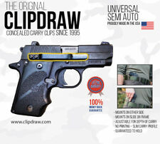 Clipdraw Universal IWB OWB Belt Clip for All Semi Automatic Pistols Silver Ambi
