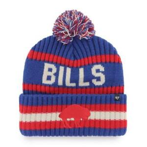 '47 Buffalo Bills Legacy Blue / Red Bering Pom Cuffed Knit Hat