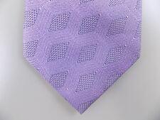 "CALVIN KLEIN $70 MEN Purple Geometric Skinny WIDTH 3"" NECK TIE 100% Silk M29"