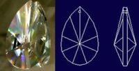 2X(76 mm Tropfen Form Prisma Kristall fuer Garten, Rasen, Versorgung, Wartung 2X