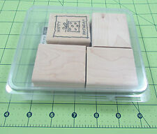 Stampin Up Kid Cards Stamp Set of 4 Birthday Thank You Holidays 2004