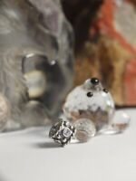 "GENUINE / PANDORA - STERLING SILVER CHARM "" OXY CROWN WITH CZ "" RETIRED"