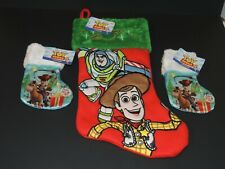 Lot of 3 Toy Story 4 Woody Buzz Lightyear Bullseye Disney Ruz Stockings NEW