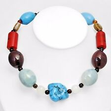 Great Necklace with Agates,Carnelians,Corals, Turquoises