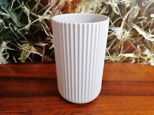 Lyngby Porcelaen Classy Vase IN Copenhagen Light Gray, Height 9 13/16in New