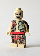 Custom Printed Minifigure Lego Japan YAKUZA Gangster Tattoo Rare #1 TAN ink