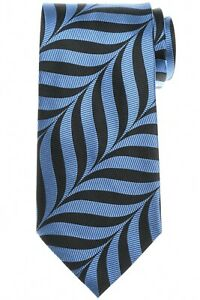 Tom Ford Tie Silk Wide Model Blue Exploded Herringone 14TI0266 $270