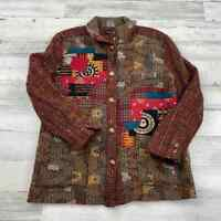CANVASBACKS VTG Wool Mohair Blend Metal Button Front Sweater Womens Sz Medium