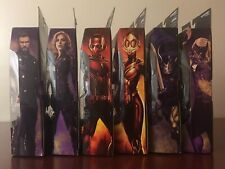 Marvel Legends Avengers Complete Set Cull Obsidian BAF THOR BLACK WIDOW KNIGHT