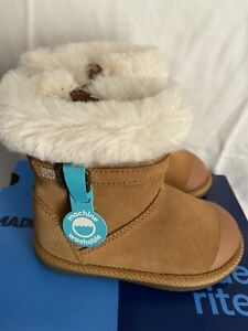 StrideRite M2P Lydia Chestnut Baby Girl boot Shoes US size 7, 71/2