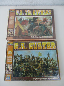 Battle of Little Big Horn Custer Character Figure Toy Soldier Lot 1/72 Cavalry