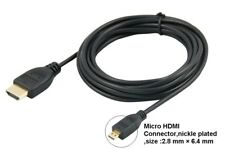 Micro HDMI to HDMI Cable Lead For Nokia 808 PureView Phone to TV LCD HDTV
